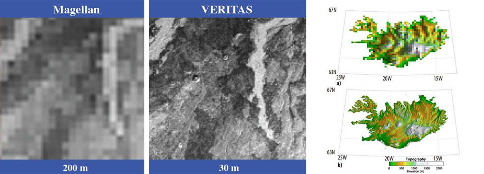 Смоделированные сравнения изображений Магеллана и VERITAS